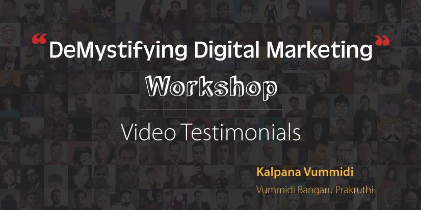 DeMystifying Digital Marketing Workshop